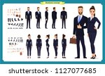 business man and woman... | Shutterstock .eps vector #1127077685