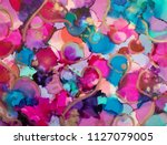 alcohol ink art. abstract... | Shutterstock . vector #1127079005