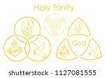 holy trinity symbol.   Shutterstock .eps vector #1127081555