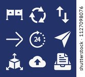 set of 9 arrows filled icons...   Shutterstock .eps vector #1127098076