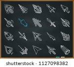 mouse cursor chalk icons set....