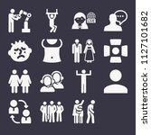 set of 16 people filled icons... | Shutterstock .eps vector #1127101682