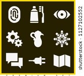 set of 9 other filled icons...   Shutterstock .eps vector #1127102552