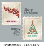 collection of vector christmas... | Shutterstock .eps vector #112711372