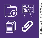 set of 4 document outline icons ...