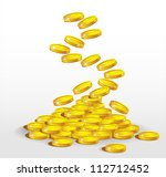 gold coins spilling. the... | Shutterstock .eps vector #112712452