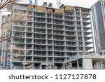 condominium construction and... | Shutterstock . vector #1127127878