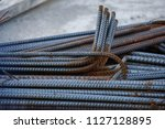 bundle of rebar for concrete... | Shutterstock . vector #1127128895