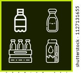 set of 4 drink outline icons... | Shutterstock .eps vector #1127131655