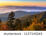 The sun rises over the Smoky Mountains at Clingman