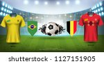 football cup 2018 world...   Shutterstock .eps vector #1127151905