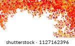 autumn leaves maple autumn... | Shutterstock .eps vector #1127162396