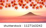 fuji autumn leaves autumn...   Shutterstock .eps vector #1127163242