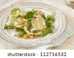 salad with chickpeas and zucchini - stock photo