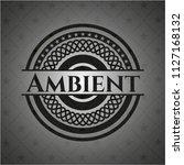 ambient realistic black emblem | Shutterstock .eps vector #1127168132