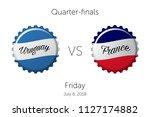 soccer championship   quarter... | Shutterstock .eps vector #1127174882