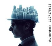 Double Exposure Of A Engineer...