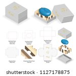 rigid box for rounded soap...   Shutterstock .eps vector #1127178875