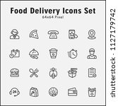 thin line icons set of delivery ... | Shutterstock .eps vector #1127179742