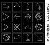 set of 16 icons such as... | Shutterstock .eps vector #1127183912