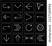 set of 16 icons such as left... | Shutterstock .eps vector #1127183996