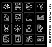 set of 16 icons such as browser ... | Shutterstock .eps vector #1127184158