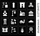 set of 16 icons such as wheel ... | Shutterstock .eps vector #1127184572