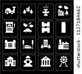 set of 16 icons such as wheel ... | Shutterstock .eps vector #1127184662