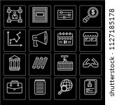set of 16 icons such as summary ...