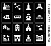 set of 16 icons such as... | Shutterstock .eps vector #1127185646