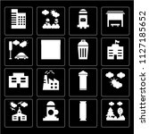 set of 16 icons such as park ... | Shutterstock .eps vector #1127185652