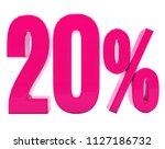 pink 20  percent discount sign  ... | Shutterstock . vector #1127186732
