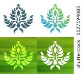 abstract foliate decoration....   Shutterstock .eps vector #1127194085