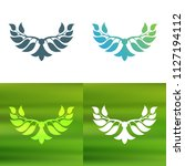 abstract foliate decoration....   Shutterstock .eps vector #1127194112