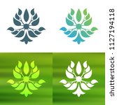 abstract foliate decoration....   Shutterstock .eps vector #1127194118