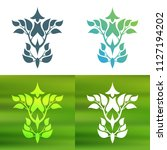 abstract foliate decoration....   Shutterstock .eps vector #1127194202
