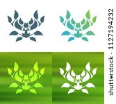 abstract foliate decoration....   Shutterstock .eps vector #1127194232