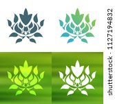abstract foliate decoration....   Shutterstock .eps vector #1127194832