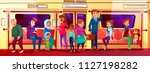 subway people social issue... | Shutterstock .eps vector #1127198282