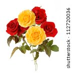Red And Yellow Bunch Isolated...