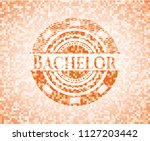 bachelor orange mosaic emblem | Shutterstock .eps vector #1127203442