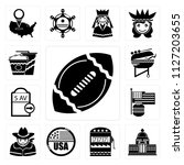 set of 13 simple editable icons ... | Shutterstock .eps vector #1127203655