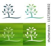 abstract tree concept logo.   Shutterstock .eps vector #1127203832