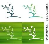 abstract tree concept logo.   Shutterstock .eps vector #1127203856