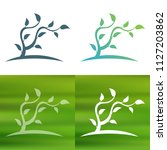 abstract tree concept logo.   Shutterstock .eps vector #1127203862