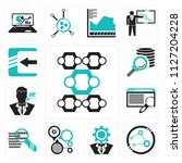 set of 13 simple editable icons ...   Shutterstock .eps vector #1127204228