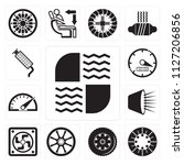 set of 13 simple editable icons ... | Shutterstock .eps vector #1127206856