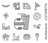 set of 13 simple editable icons ... | Shutterstock .eps vector #1127208776