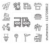 set of 13 simple editable icons ... | Shutterstock .eps vector #1127208812