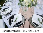 table for a party or a wedding... | Shutterstock . vector #1127218175